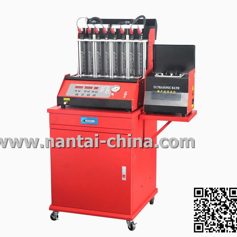 QCM200-8C Auto 8 cylinders fuel injectors cleaner and tester QMC200-8C with CE certification